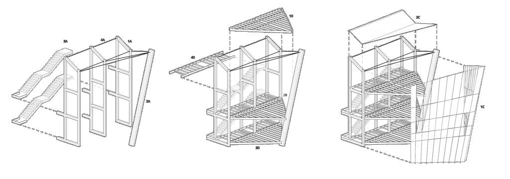 Proceso constructivo de la propuesta the Pointer para Flamingo Tower Competition.
